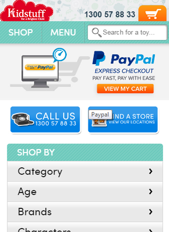 نسخه موبایل فروشگاه